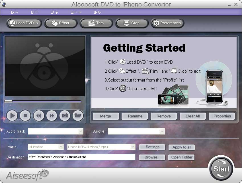 Useesoft dvd to iphone ripper 1.5.1.6