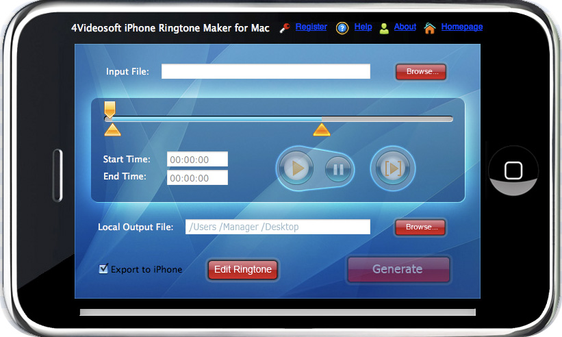 iPhone Ringtone Maker for Mac Screenshot Screenshot